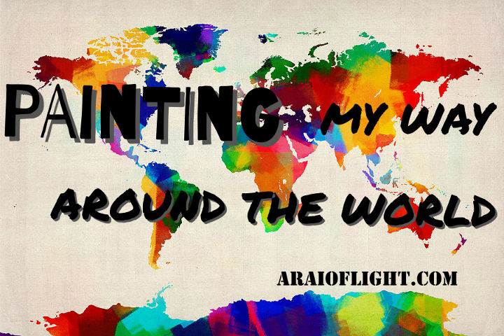 Painting my way around the world travel