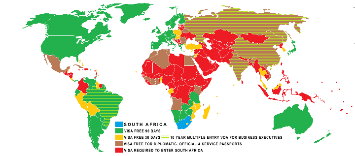 Visa policy of South Africa