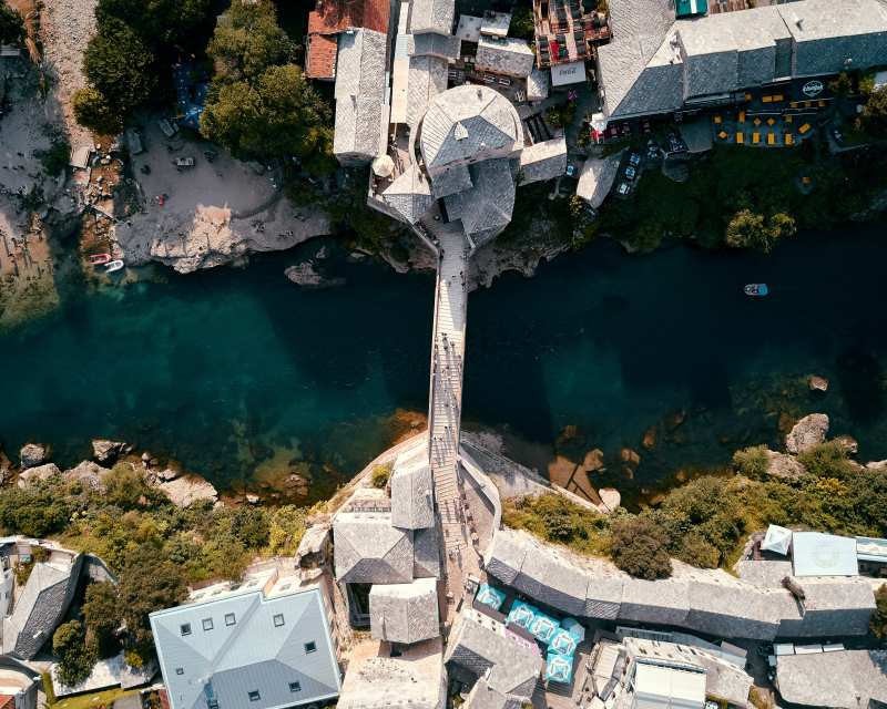Visit Mostar Bosnia Stari Most Old Bridge from above travel guide