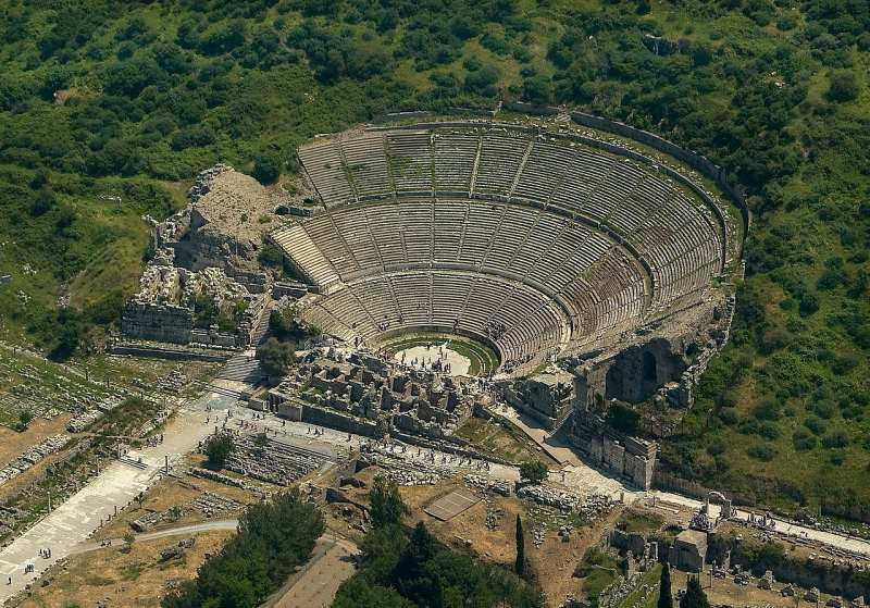 Visit Grand Theatre Ephesus from above