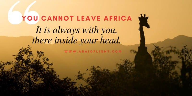 Quotes about Africa Giraffe silhouette
