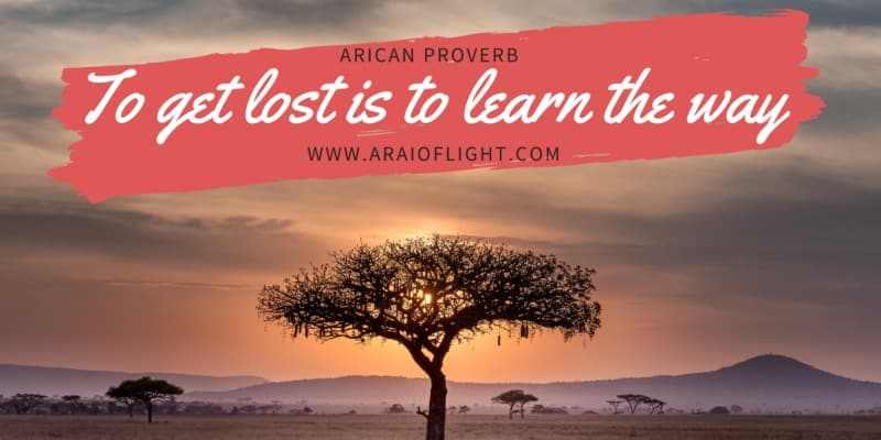 Wisdom Quotes Proverbs Africa Savannah sunset