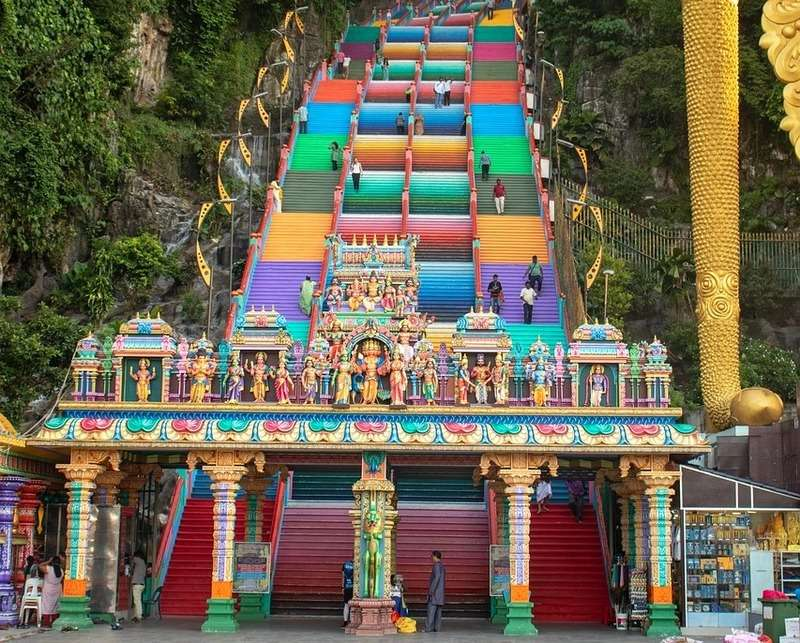 Batu caves temple new look how many steps