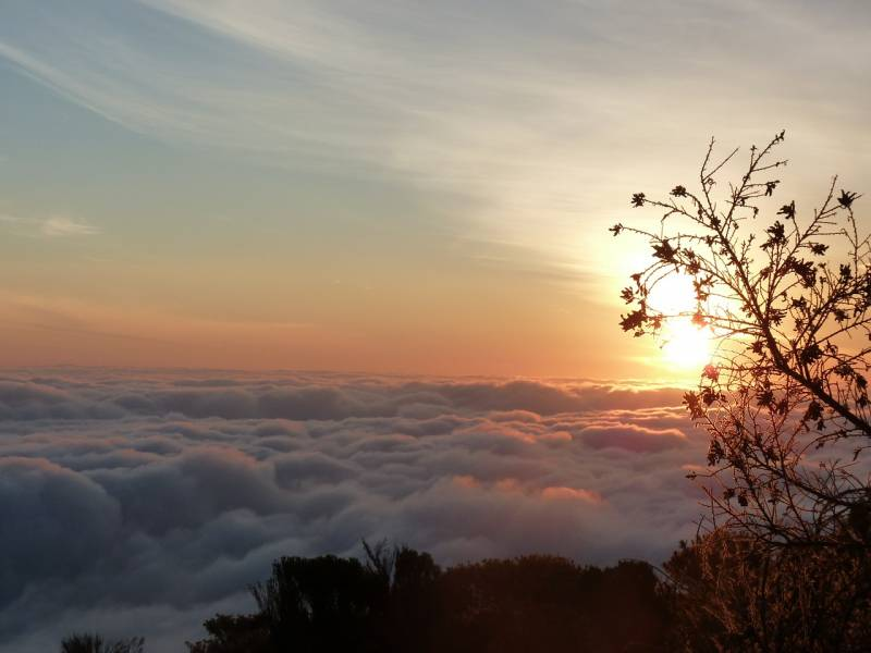 Sunrise and sunset above the clouds Kilimanjaro