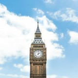 Big Ben Souvenir London clock blue sky