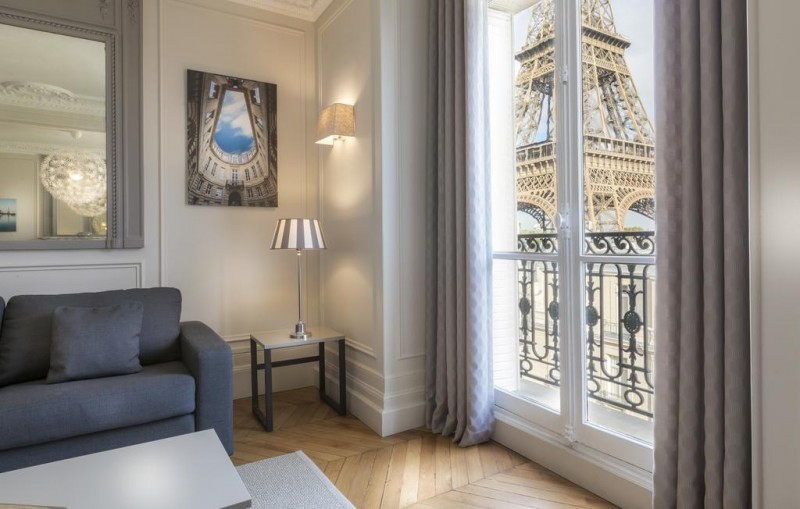Paris View Eiffel Tower Hotel Residence Charles Floquet