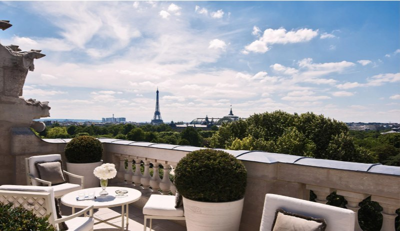Paris hotels with view Eiffel Tower Crillon