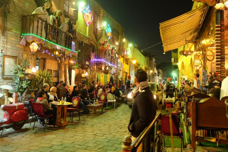 Street food culture cafes food in egypt