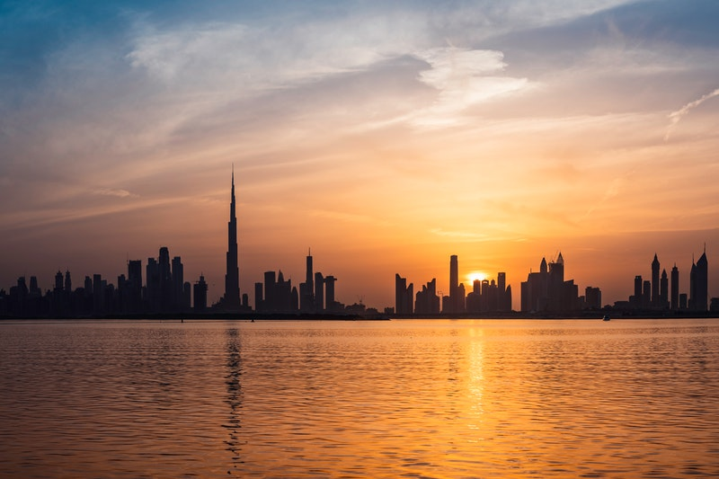 Stopover Itinerary Dubai city skyline sunset one day two days things to do