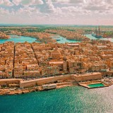 Trip to Valetta Malta aerial photograph. Things to do. Places to visit.