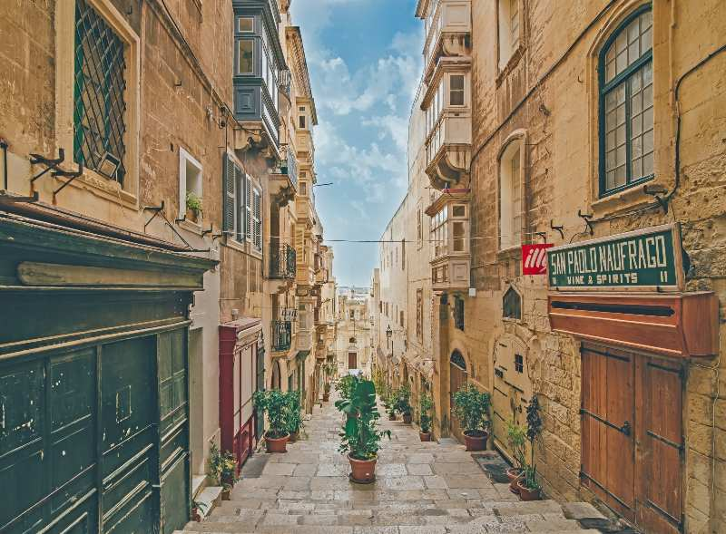 Valetta Streets Malta Attractions Sights Travel