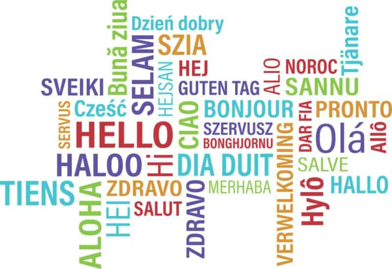 hello in different languages pronunciation